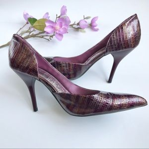 "Anne Michelle Purple Metallic Like New 4"" Heels"